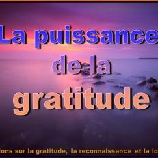 Cultivez la gratitude